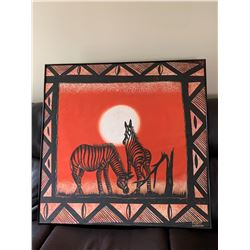 Gorgeous Original Zebra Painting from Zambia