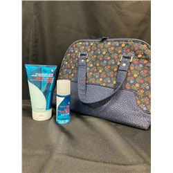 Travel Bag c/w Bath & Bodyworks Lotion & Mist
