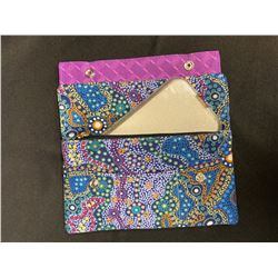 Purple Wallet/Clutch and Scarf