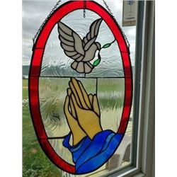 """Stained Glass Artwork  """"Returning Home"""""""