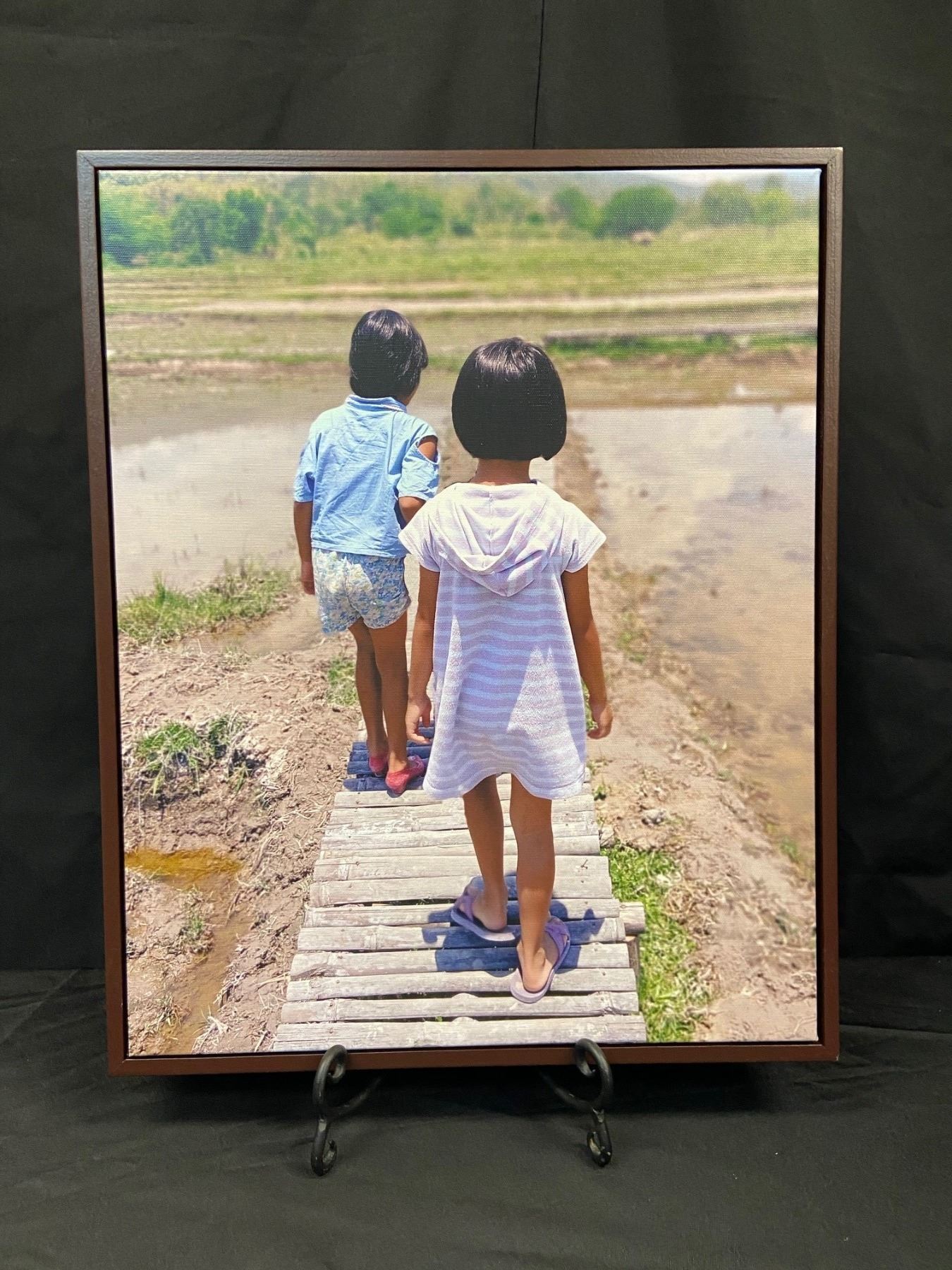 Walk With Me  Framed Wall Canvas