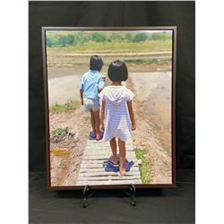 """""""Walk With Me"""" Framed Wall Canvas"""