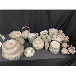 Large Kolynyama Pottery Service Set for 6