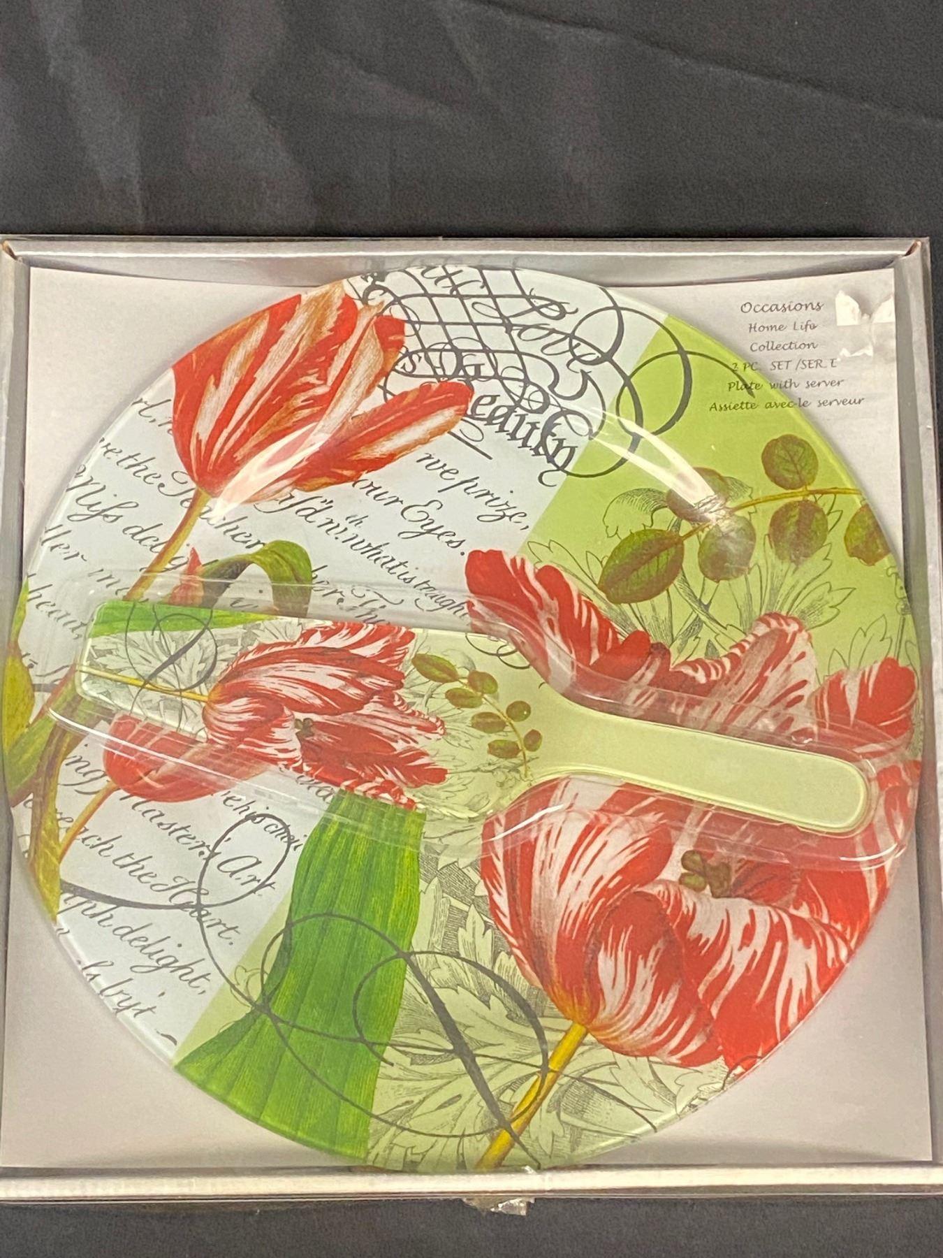 Beautiful  Occasions  Glass Platter w/Lifter