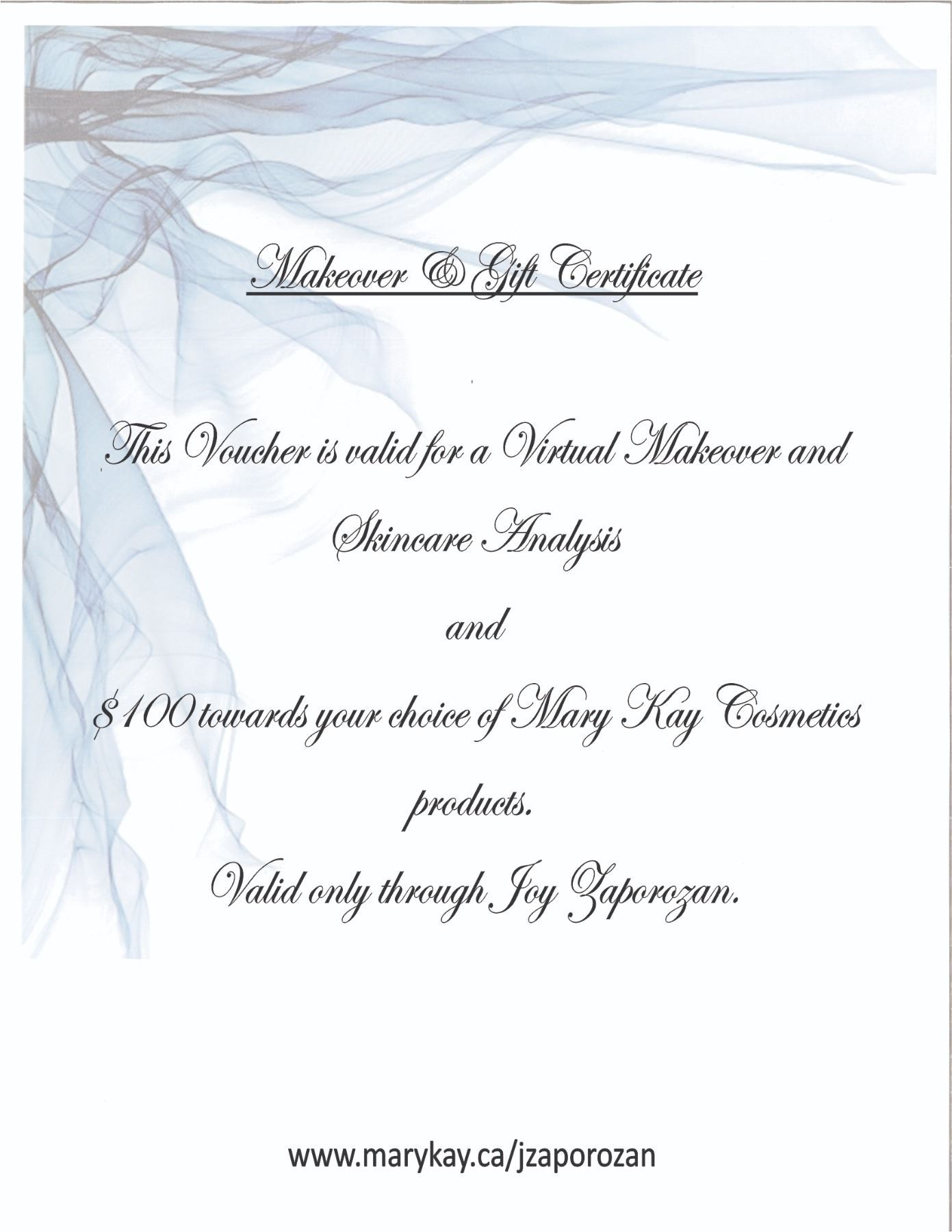 Mary Kay  Gift Certificate