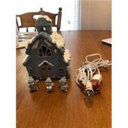 Snow Buddies Vintage Church Christmas Ornament Set