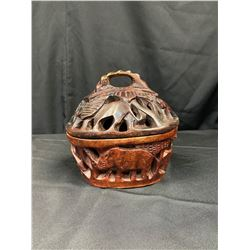 Handcrafted Wooden Basket from Zambia