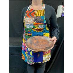 Colourful Adjustable Apron & Wooden Serving Platter