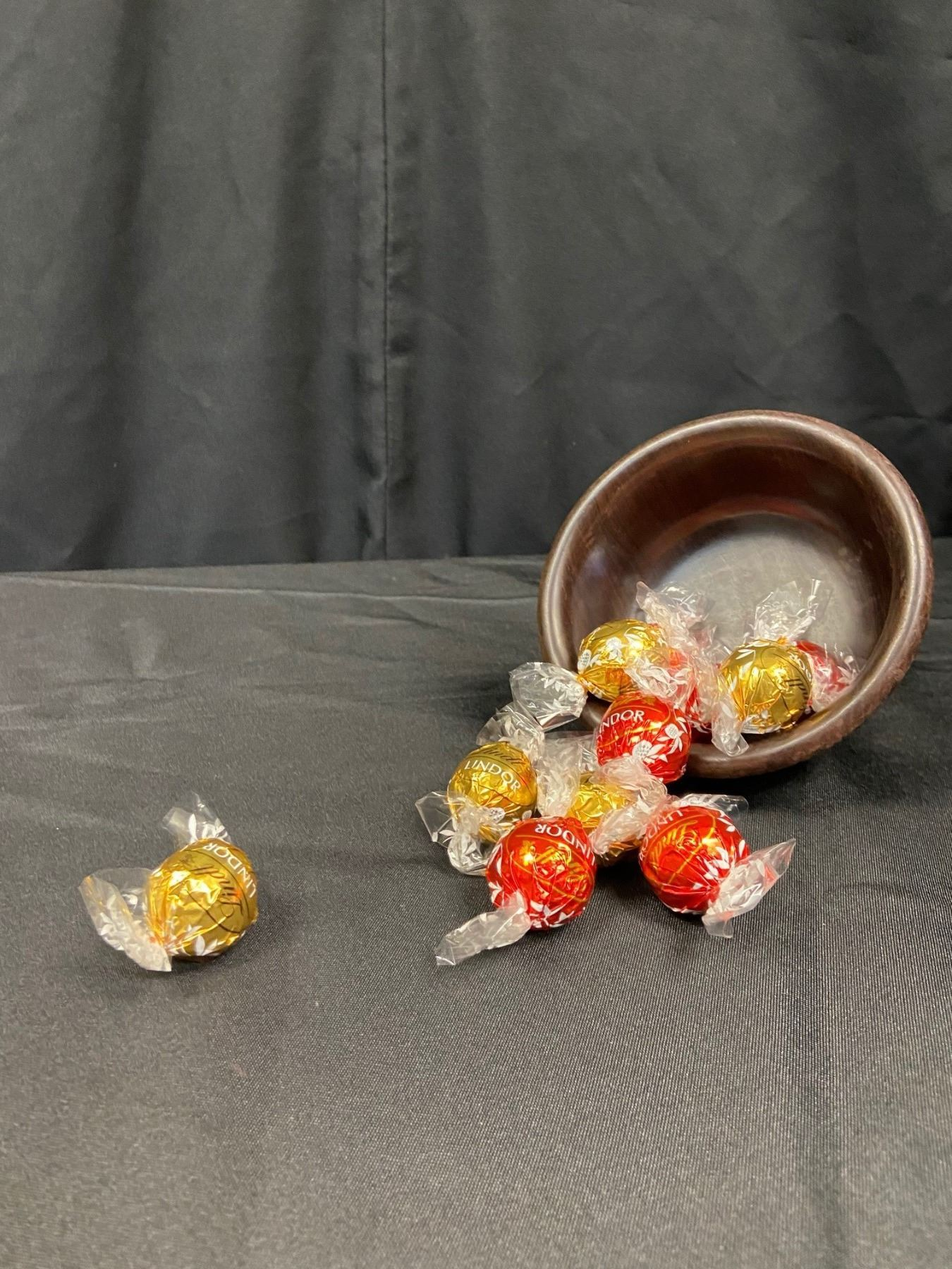 Wooden African Candy Bowl