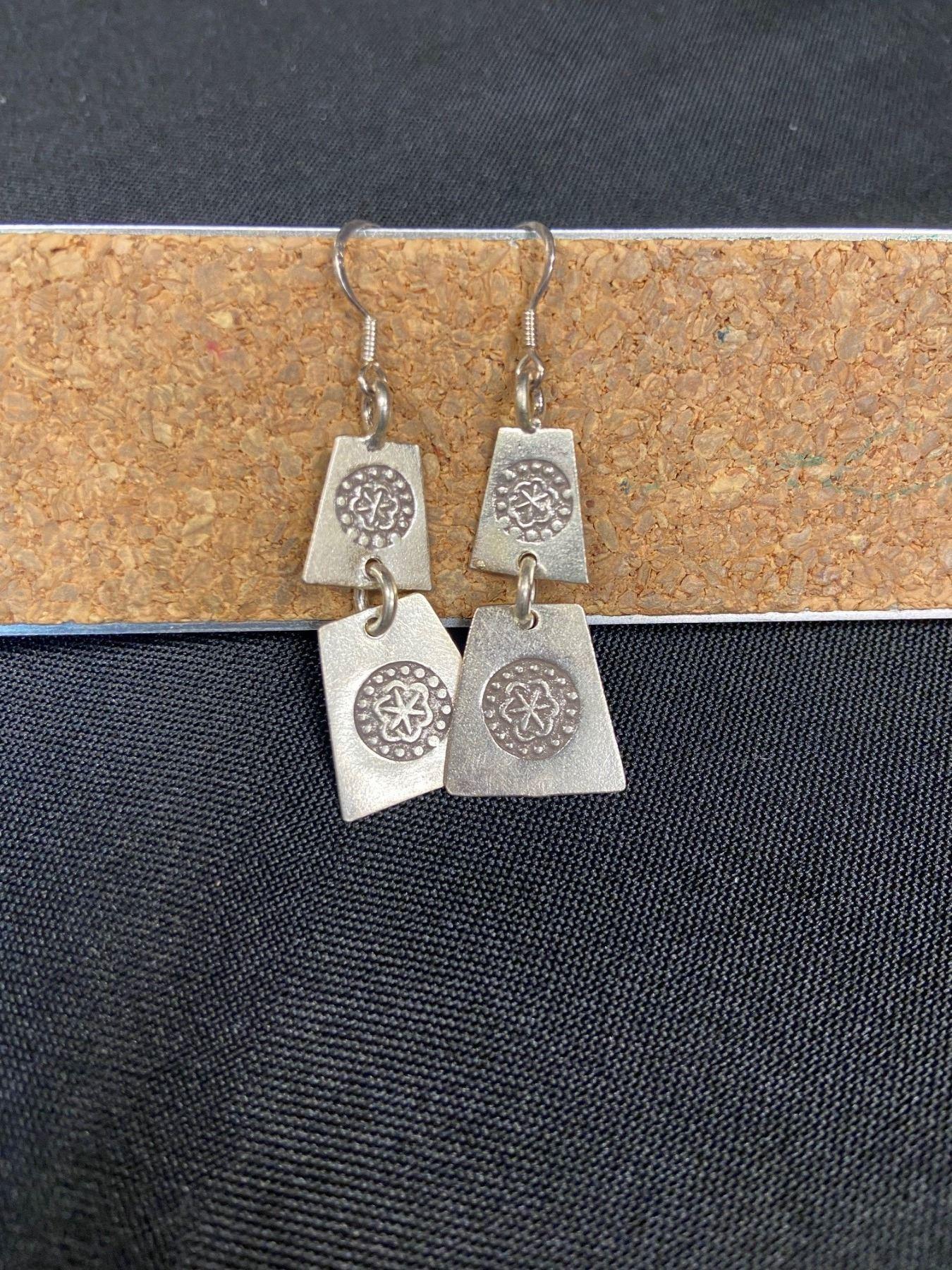 Silver Pendant Earrings