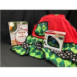 Oven to Table Cookbook & Apron, MIni Grill Buddy