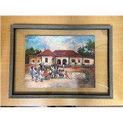 """Framed Art """"Buseko Children's Home"""""""