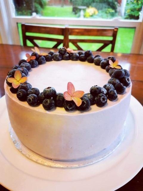 Decadent 10  Ukrainian Style Blueberry Honey Sponge Cake