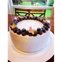 "Decadent 10"" Ukrainian Style Blueberry Honey Sponge Cake"