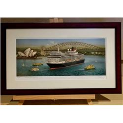 Cunard Ship Framed Painting #1