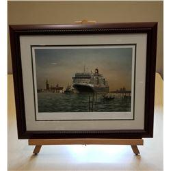 Cunard Ship Framed Painting #3