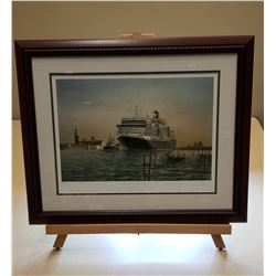 Cunard Ship Framed Painting #2