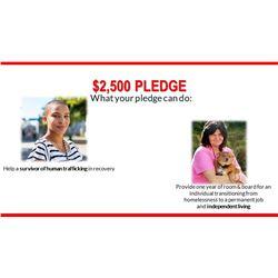 $2,500 Pledge