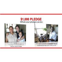 $1,000 Pledge