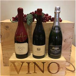 3 Bottles Belle Glos Pinto Noir, Failla Pinot Noir , Domaine Carneros by Taittinger