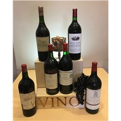 SIX PRISTINE MAGNUMS OF  FIRST GROWTH BORDEAUX
