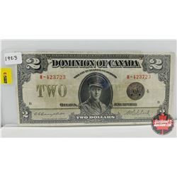 Dominion of Canada $2 Bill 1923 Campbell/Clark W-423723