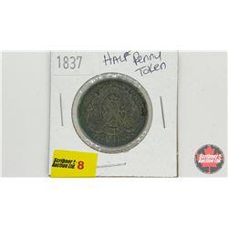 Province du bas Canada 1837 Half Penny Token
