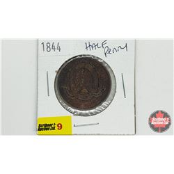 Province of Canada Bank of Montreal 1844 Half Penny Bank Token
