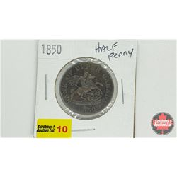 Bank of Upper Canada 1850 Bank Token One Half Penny