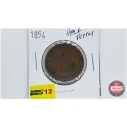 Bank of Upper Canada 1854 Bank Token One Half Penny