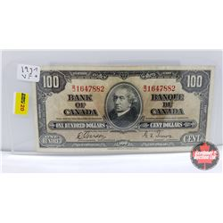 Bank of Canada $100 Bill Gordon/Towers BJ1647882