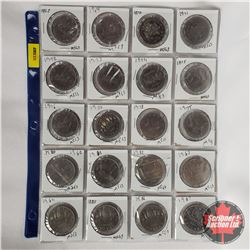 Canada One Dollar - Sheet of 20: chronological 1968 - 1987