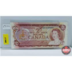 Canada $2 Bill 1974 Lawson/Bouey ABE4235692