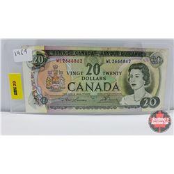 Canada $20 Bill 1969 Lawson/Bouey WL2666862