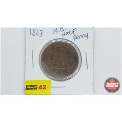New Brunswick Half Penny Token 1843