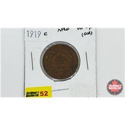 Newfoundland One Cent 1919C