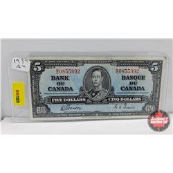 Bank of Canada $5 Bill Gordon/Towers WC0855992
