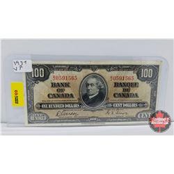 Bank of Canada $100 Bill Gordon/Towers BJ0591565