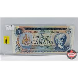 "Canada $5 Bill 1972 ""Replacement"" Lawson/Bouey *SF2363564"