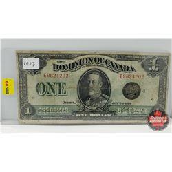 Dominion of Canada $1 Bill 1923 Campbell/Clark E9624202