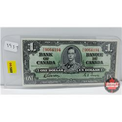 Bank of Canada $1 Bill 1937 Gordon/Towers YL9064194