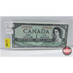 Canada $1 Bill 1954DF : Beattie/Coyne OA8570226
