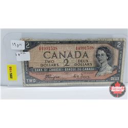 Canada $2 Bill 1954DF : Coyne/Towers AB4991538