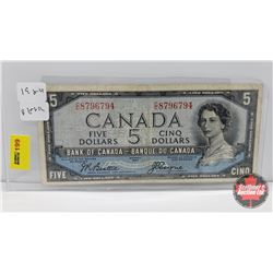 Canada $5 Bill 1954DF : Beattie/Coyne CC8796794