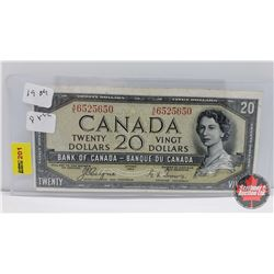 Canada $20 Bill 1954DF : Coyne/Towers AE6525650