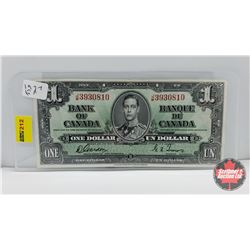 Bank of Canada $1 Bill 1937 Gordon/Towers JM3930810