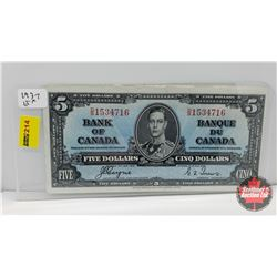 Bank of Canada $5 Bill 1937 Coyne/Towers DS1534716