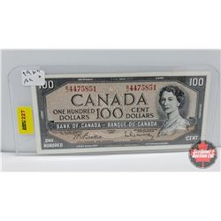 Canada $100 Bill 1954 Beattie/Rasminsky BJ4475851