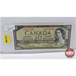 Canada $20 Bill 1954 Beattie/Rasminsky TE2676936