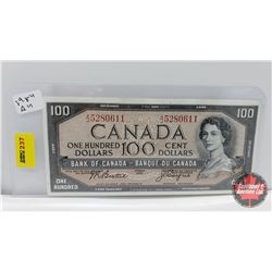 Canada $100 Bill 1954 Beattie/Coyne AJ5280611
